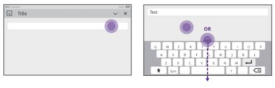 Virtual keyboard interaction: opening and closing the keyboard